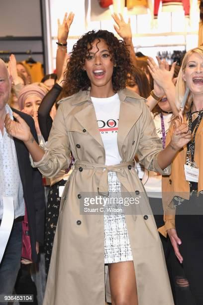 Rochelle Humes opens the New Look flagship store New Look Oxford Street on March 22 2018 in London England