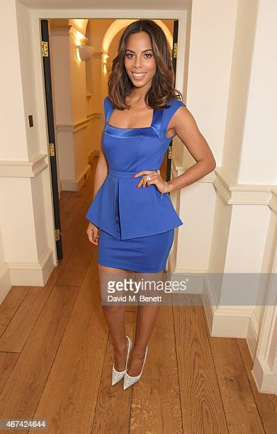 Rochelle Humes presents her SS15 collection for verycouk at The Portico Rooms Somerset House on March 24 2015 in London England