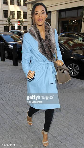 Rochelle Humes seen at BBC Radio One seen at on October 28 2014 in London England