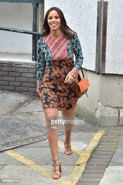 Rochelle Humes seen at the ITV Studios after presenting the Lorraine show on May 30 2017 in London England