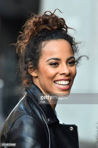 Rochelle Humes seen at the ITV Studios on February 6 2018 in London England