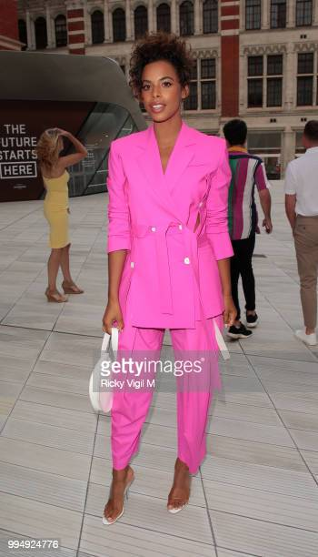 Rochelle Humes seen attending Syco summer party at Victoria and Albert Museum on July 9 2018 in London England