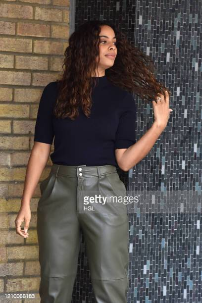 Rochelle Humes seen outside the ITV Studios on March 03, 2020 in London, England.