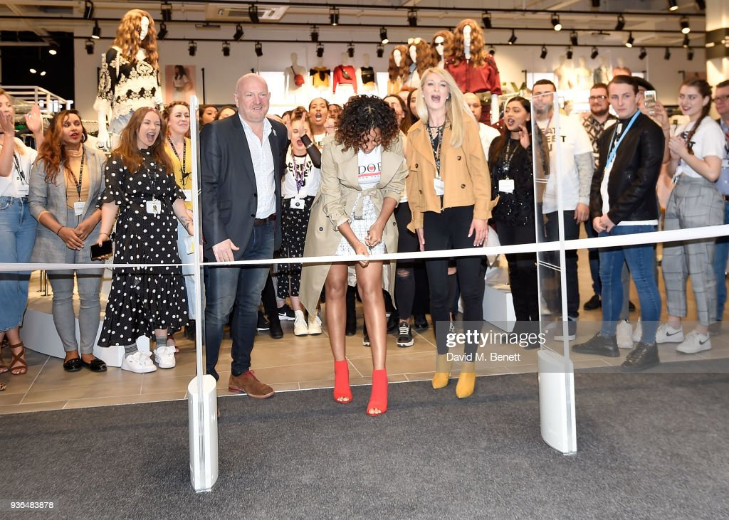 Rochelle Humes Opens New Look Flagship Store On Oxford Street