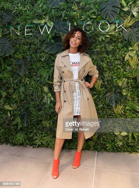 Rochelle Humes the face of New Look's SS18 campaign cuts the ribbon to unveil the brand new flagship New Look store on Oxford Street on March 22 2018...