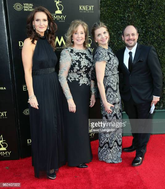 Rochelle Rose Cyd Wilson Rebecca Hamm and Marcus Lodewyk attend the 45th Annual Daytime Creative Arts Emmy Awards at Pasadena Civic Auditorium on...