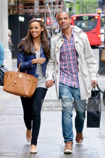 Rochelle Wiseman and Marvin Humes sighted in Knightsbridge on May 9 2012 in London England