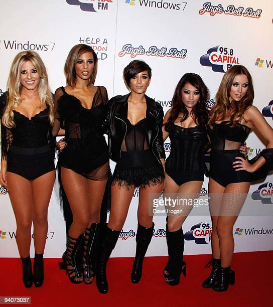 Rochelle Wiseman Vanessa White Una Healy Molly King and Frankie Sandford of The Saturdays attend the Capital FM Jingle Bell Ball Day 1 at 02 Arena on...