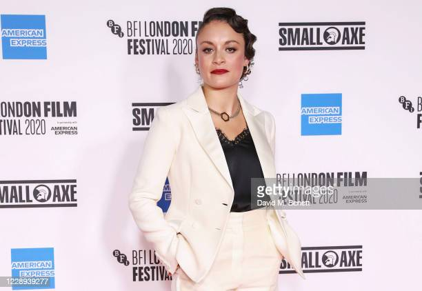 """Rochenda Sandall attends the European Premiere of """"Mangrove"""", the Opening Night screening of the 64th BFI London Film Festival, at BFI Stephen Street..."""