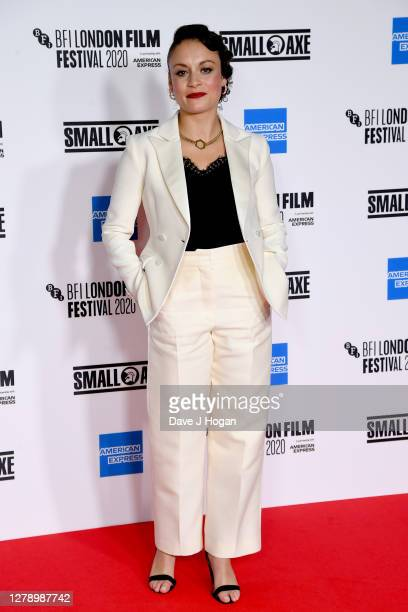 Rochenda Sandall attends the Mangrove opening film and European Premiere during the 64th BFI London Film Festival at BFI Stephen Street on October 07...