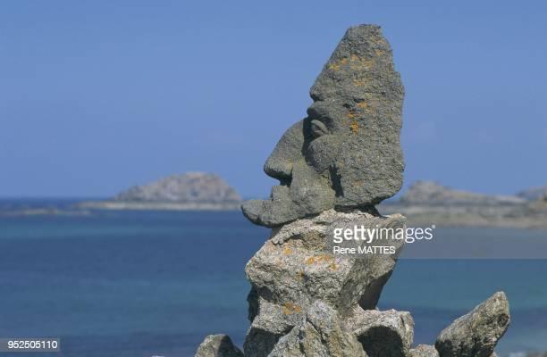 Rocher Sculpte Abbe Fourre Rotheneuf IlleetVillaine Bretagne France