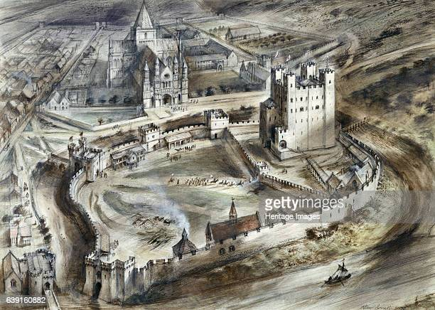 Rochester Castle 15th century Aerial reconstruction drawing showing the castle as it might have appeared in the fifteenth century Rochester Castle...