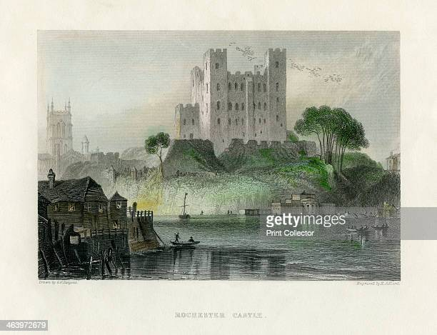 Rochester Castle Kent mid 19th century Built on the site of a Roman fortification this Norman castle was an important royal stronghold It was...