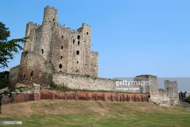 Rochester Castle situated on the banks of the River Medway dating from the 12th century with a magnificently preserved stone keep Rochester Lent...