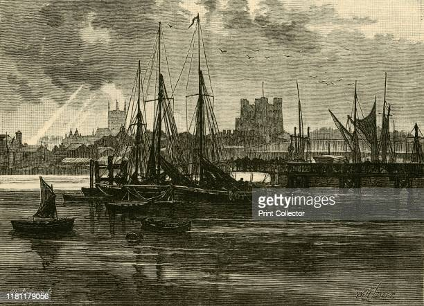 Rochester from the Medway' 1898 Rochester is at the lowest bridging point of the River Medway about 30 miles from London From Our Own Country Volume...