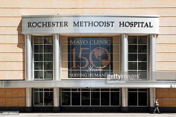 Rochester Minnesota Methodist Hospital and Mayo Clinic Signs
