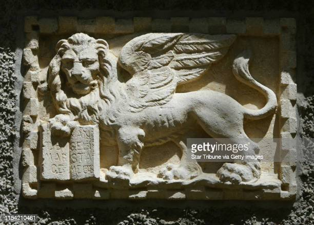 Rochester MN Tuesday 5/22/2002 There are lion statues in many sections of Mayowood the estate of Dr Charles Mayo one of the founders of the Mayo...