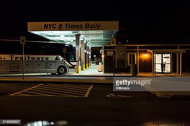 Rochester New York Bus Station At Night