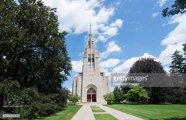 Rochester New York NY downtown city beautiful church famous Asbury First United Methodist on East Avenue religion with red door