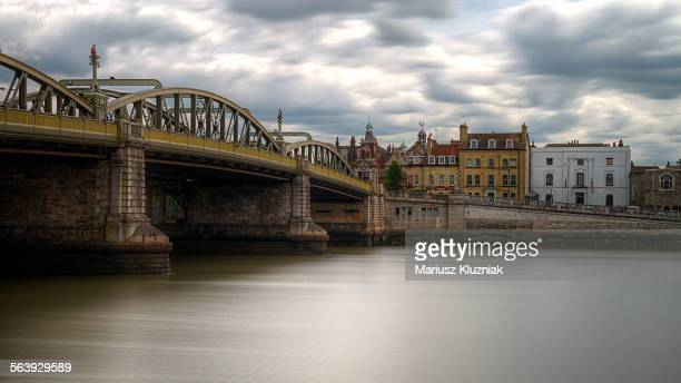 rochester old town, bridge and river medway - river medway stock photos and pictures