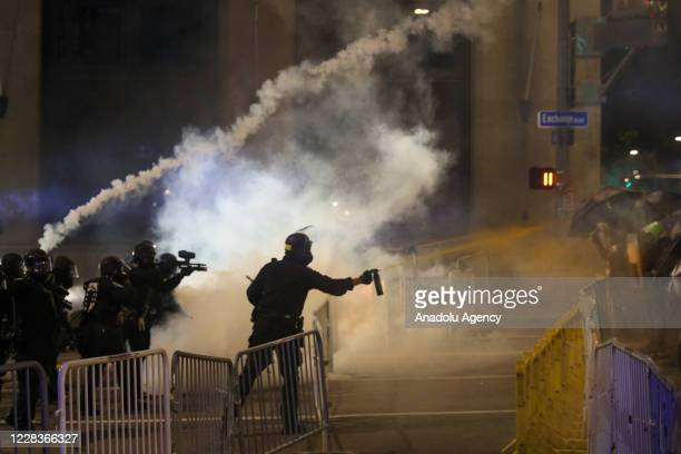 Rochester police heavily use tears gas against protestors during Daniel Prude protest in Rochester, New York, United States on September 5, 2020....