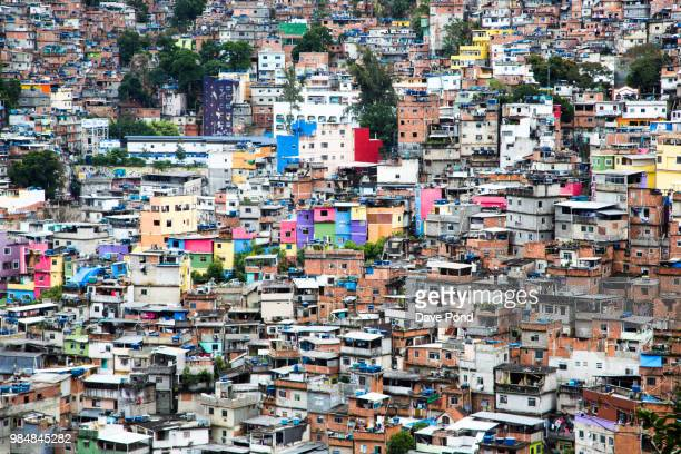 rocinha favela of rio de janerio - slum stock pictures, royalty-free photos & images