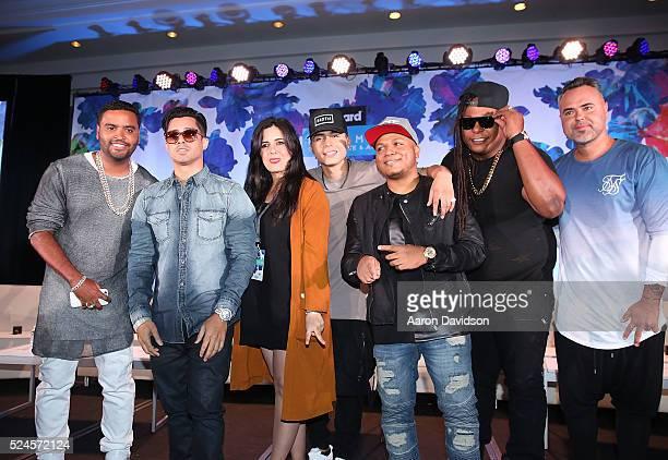 Rocio Guerrero Gente de Zona Juan Magan KenY Reykon Saga WhiteBlack and Zion y Lennox attend Billboard Latin Conference 2016 at Ritz Carlton South...