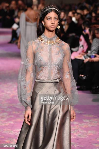 Rocio Marconi walks the runway during the Dior Haute Couture Spring/Summer 2020 show as part of Paris Fashion Week on January 20 2020 in Paris France