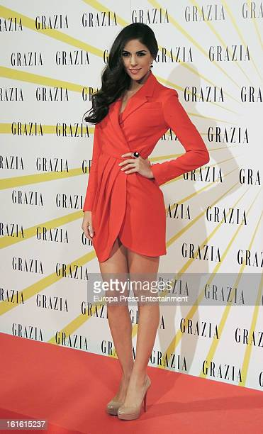 Rocio Munoz attends Grazia Magazine launch party at Circo Price Theatre on February 12 2013 in Madrid Spain