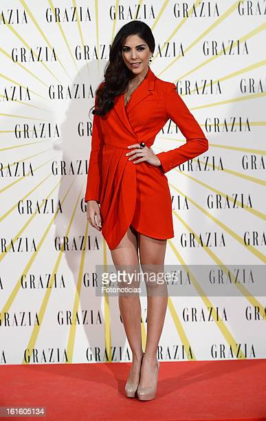 Rocio Munoz attends Grazia Magazine launch party at the Circo Prize Theater on February 12 2013 in Madrid Spain