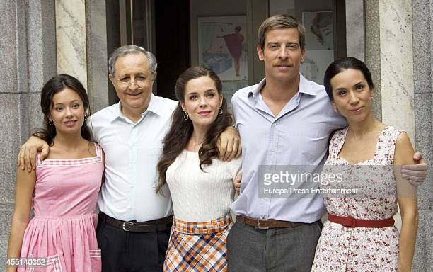 Rocio Munoz Manu Baqueiro and Iztiar Miranda attend 'Amar Es Para Siempre' the presentation of the 3rd season on September 9 2014 in Madrid Spain