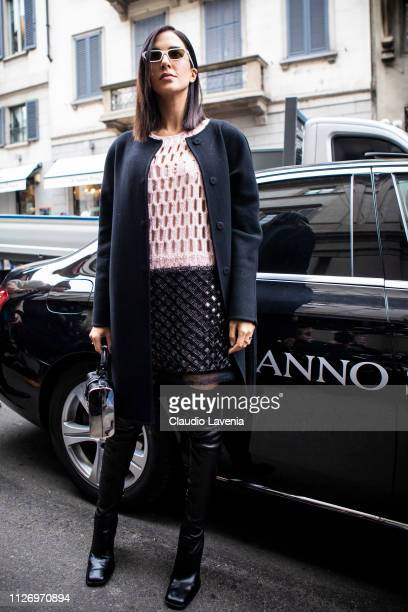 Rocio Munoz Morales attends the Ermanno Scervino show at Milan Fashion Week Autumn/Winter 2019/20 on February 23 2019 in Milan Italy