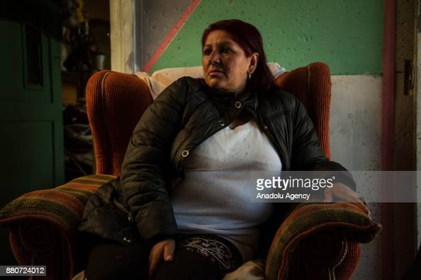 Rocio Rianos displaced by violence and she is a community leader sits on an armchair in Bogota Colombia on November 27 2017 Rianos said I'm a...