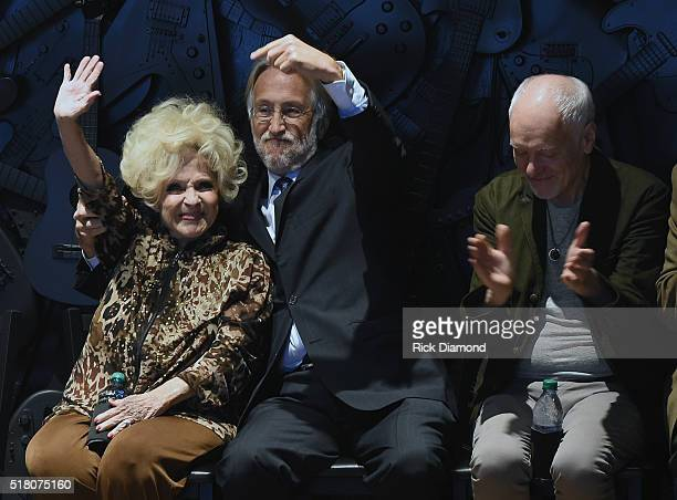 Rock and Roll and Country Music Hall of Fame member Brenda Lee President/CEO Grammys Neil Portnow and Musicians Hall of Fame member Peter Frampton...