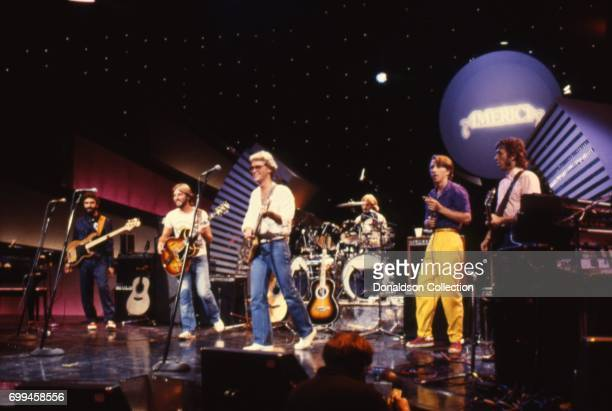 Rock and roll band 'America' featuring David Dickey Willie Leacox Gerry Beckley Michael Woods Dewey Bunnell Jim Calire and Tom Walsh perform on...