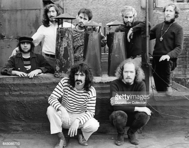 Rock and roll band Frank Zappa and The Mothers of Invention pose for a portrait in circa 1966