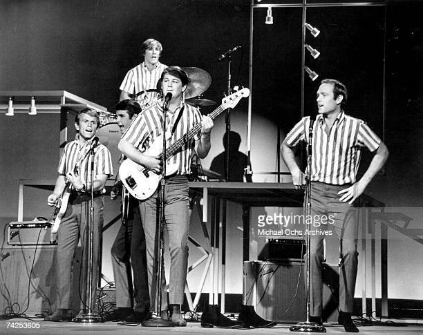 Rock and roll band The Beach Boys perform at the TAMI Show in October 281964 Other performers included James Browm The Rolling Stones The Beatles and...