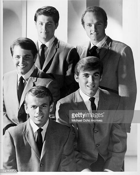 Rock and roll band The Beach Boys pose for a portrait in 1964 Clockwise from middle left Carl Wilson Brian Wilson Mike Love Dennis Wilson Al Jardine