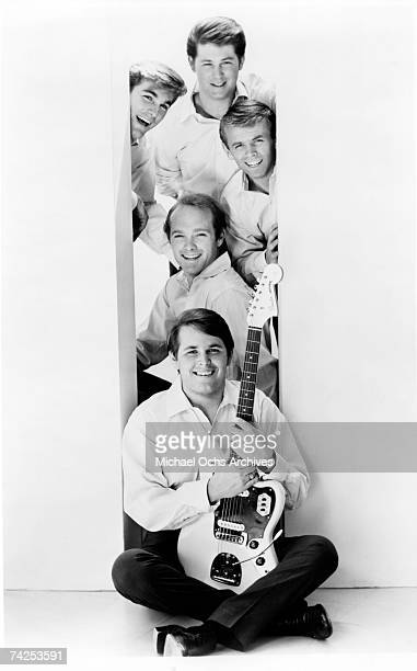 Rock and roll band The Beach Boys pose for a portrait in 1964 Top to bottom Brian Wilson Dennis Wilson Al Jardine Mike Love Carl Wilson