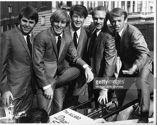 Rock and roll band The Beach Boys poses for a portrait on November 2 1964 in London England Carl Wilson Dennis Wilson Brian Wilson Mike Love Al...