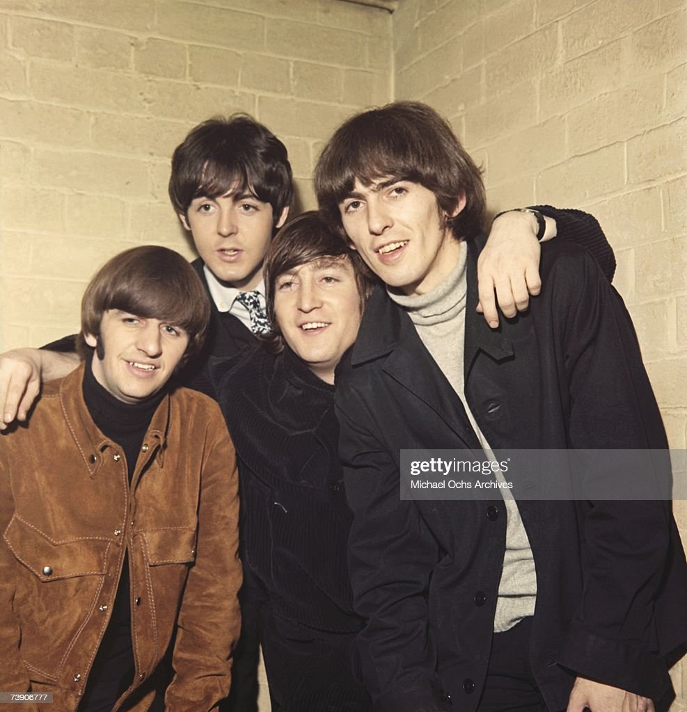 Rock and roll band 'The Beatles' pose for a portrait in circa 1965. (L-R) Ringo Starr, Paul McCartney, John Lennon, George Harrison.