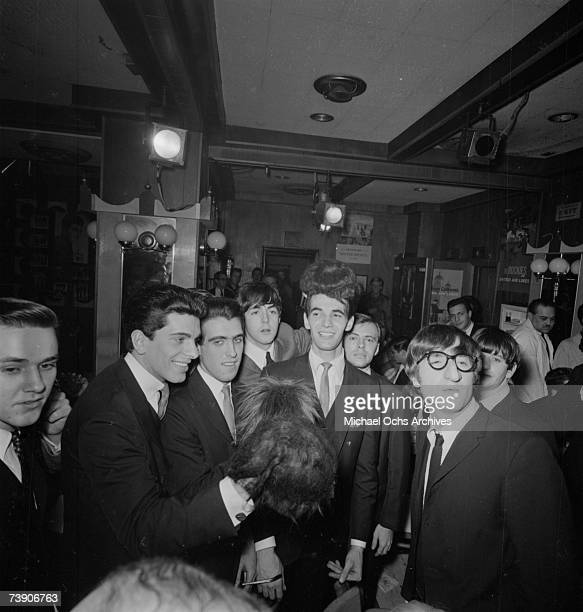 Rock and roll band 'The Beatles' visit The Peppermint Lounge on their first night in the United States on February 7 1964 in New York City New York...