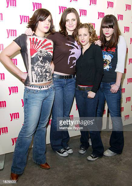 Rock and roll band The Donnas Brett Anderson Allison Robertson Torry Castellano Maya Ford attend the YM Magazine celebration of the April MTV Issue...