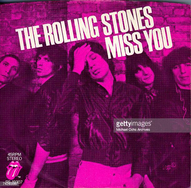 Rock and roll band 'The Rolling Stones' album cover for the single 'Miss You' which was released on May 19 1978