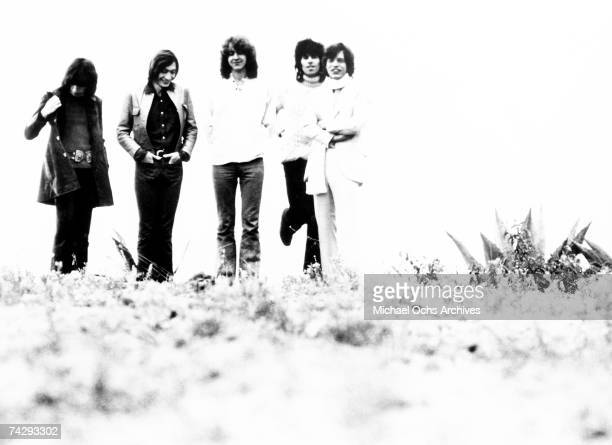 Rock and roll band 'The Rolling Stones' pose for a portrait in 1971 Bill Wyman Charlie Watts Mick Taylor Keith Richards Mick Jagger