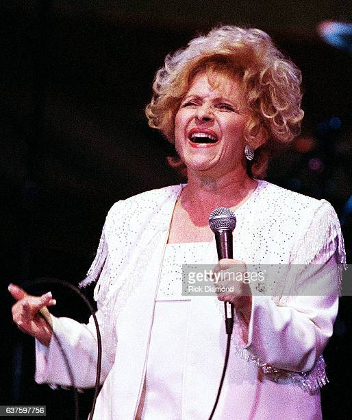 Rock and Roll Country Music and Rockabilly Hall of Fame member Singer/Songwriter Brenda Lee performs during fundraiser hosted by Baseball Legends...