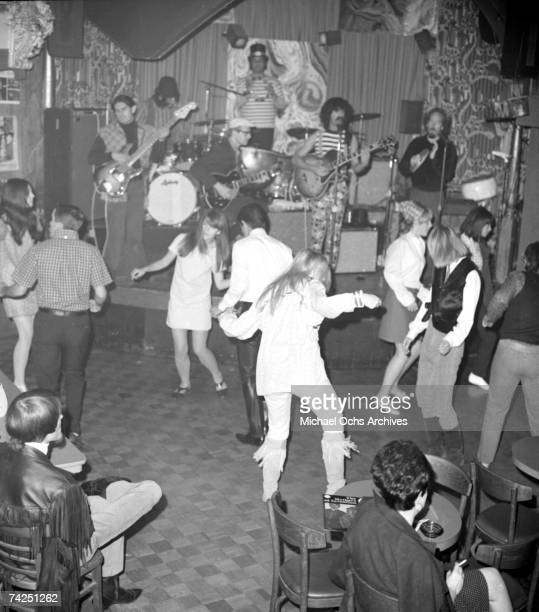 Rock and roll group Frank Zappa and the Mothers of Invention perform onstage at The Whisky a Go Go with guitarist Del Casher in October 1966 in Los...