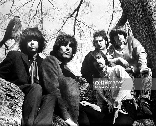 Rock and Roll group The Chain Reaction with future Aerosmith singer Steven Tyler pose for a portrait circa 1967 in New York City New York