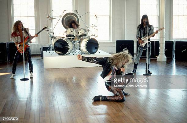 Rock and roll group White Lion filming a music video in September 1987 in Los Angeles California
