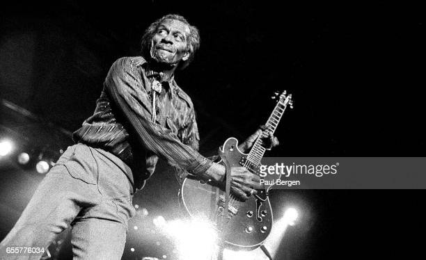 Rock and roll guitarist Chuck Berry performs on stage at North Sea Jazz Festival The Hague Netherlands 14th July 1995